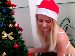Perfect teen naked Christmas