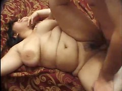 BBW with two guys that nail her hard