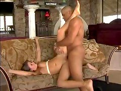A little booty shaking and interracial sex