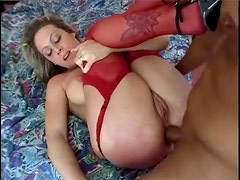 Lusty lingerie blonde is in love with anal