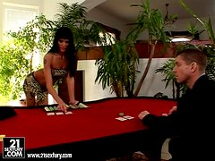 Black Jack with two dudes and Sarah Twain