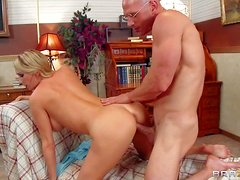 Arousing hot ass blonde Blake Rose with big juicy knockers