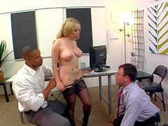 Turned on pale arousing long haired cuckold blonde milf Aiden