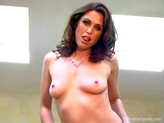 Aimee Sweet is an attractive brunette that shows her body