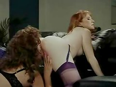 Retro video with two lesbians toying their pussies and asses