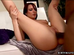Dana Dearmond gets a chance to suck and ride a massive black prick