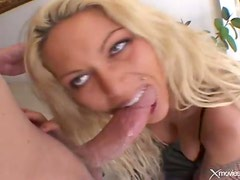 Anna Nova anal sex in a black fishnet body stocking