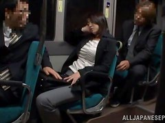 Miwako Yamamot gets fervently fucked in public transport