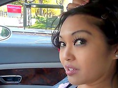 Nice scene with pornstars named Manuel Ferrara and Mika Tan in the car