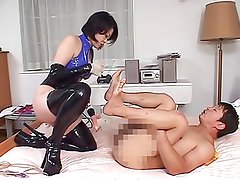 japanese girl drill man's ass 2