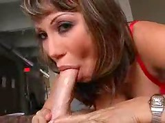 Ava Devine gives a mostly POV blowjob