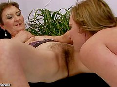 Marica is a lesbian granny with wet hairy pussy. Short