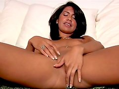 Hot and lovely babe feeling its time for her to become famous in the porn industry so she
