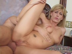 Beautiful and skinny Darryl Hanah getting pounded in the ass