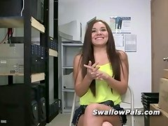 Intensely hot teen cast in backroom porn
