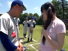 Teen Kirara Asuka gets fucked by baseball team