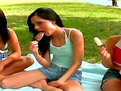 Aleska Diamond,Barbie and other hotties are continuing their lusty orgy session after wild picnic