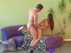 Attractive long haired brunette Jenaveve Jolie with big juicy gazongas