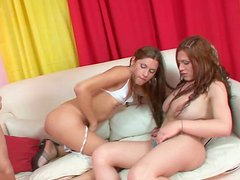 Shemale whores Maia Monroe and  Itiel Carla fonde sexy blonde