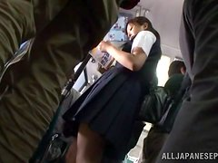 Public bus doggy style session with naughty sexual victim
