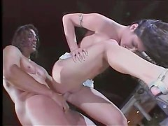 Night time fuck with his slut poolside