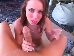 Cute girl cigarette and cock smoking