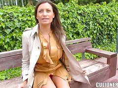 Sensual Jane gives a titjob to the guy before taking his cock in her vag