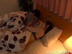 Hot amateur sex scene with a luscious Japanese babe