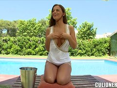 Black Angelika shows off her cute body and enjoys some fervent banging