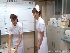 Slim and hot Japanese nurse gets fucked hard in a hospital