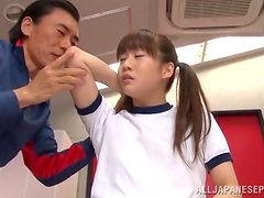 Nana Usami gets her Asian pussy fucked from behind