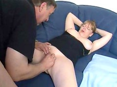 Old fat couple foreplay and fucking