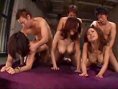 Japanese orgy with lots of cumshots