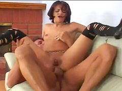 Big creampie in her asshole after anal