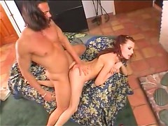 Hot Euro redhead in sizzling doggystyle scene