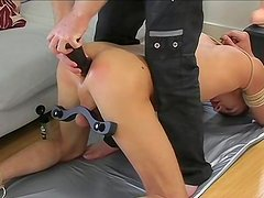 SAaliyah Jolie humiliated ass of John Decker
