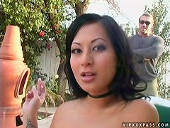 Gianna Lynn the horny Asian slut gets her pussy drilled