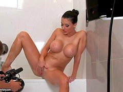 Aletta Ocean is a black haired pornstar with perfect body.