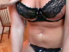 Slutty and cute blondie gets naked and sits on the cock