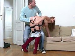 Choky Ice and Ian Scott are spending unforgettable time with this seductive and sexual hottie