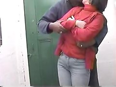 Husband beats snatch and busts inside her