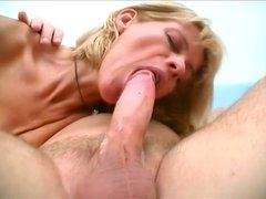 Voracious dude drills a ruined shaved pussy of blond mom Ritta