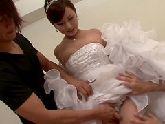 Kokone Mizutani gets fucked by a stranger on the wedding day