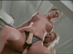 Lesbians in restaurant kitchen have hot sex