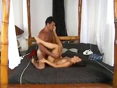 Excellent sex with a slender young brunette