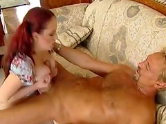 Naturally curvy redhead with a lust for dick