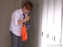Hot Shiori Tachibana gets her teen pussy toyed in a classroom