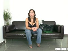 Busty latina babe Laura Moreno takes it in the ass