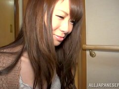 Amateur scene with a cute Japanese babe getting balled