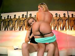 Sensational blonde babes have the wildest fantasies as they lick ass and finger cunt